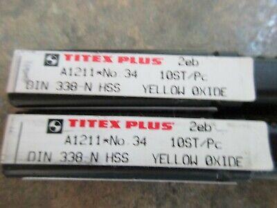 Michigan Drill Series 450 13//32 HSS Tanged Taper Length Drill Bit