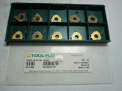 Tool-flo 2414364 Tpgc 42 Nt 5p Gp5c Carbide Threading Inserts - Pack Of 10