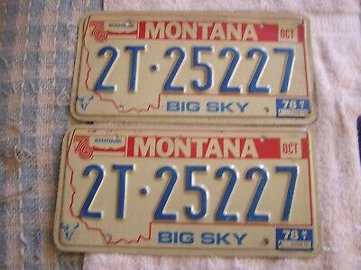 1976 Montana  Bicentennial License Plate Plates Set