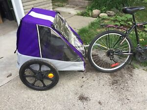 Double Chariot bike trailer