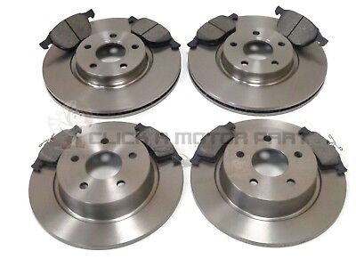 FRONT AND REAR BRAKE DISCS & PADS SET NEW FOR MAZDA 3 1.4 1.6 1.6d 2006-2013