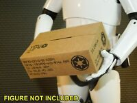 3 Easy fold 1//18 Scale Galactic Empire Ration Boxes and Sleeves for Star Wars