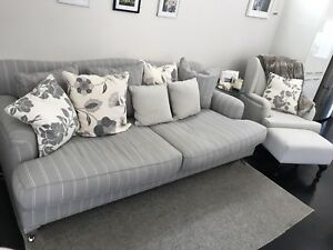 Wanted: Royal Cambridge 3.5 seater lounge plus pillows wingchair and ottoman
