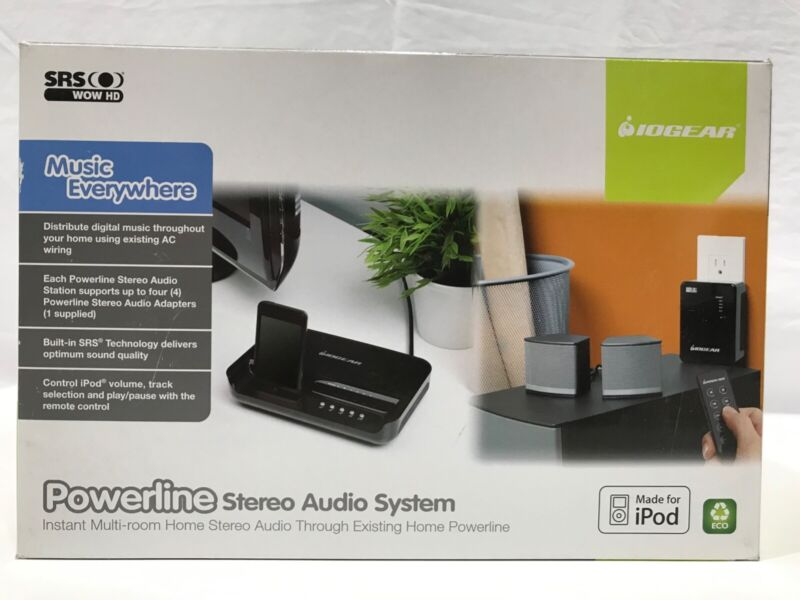 IOGEAR Powerline Stereo Audio System