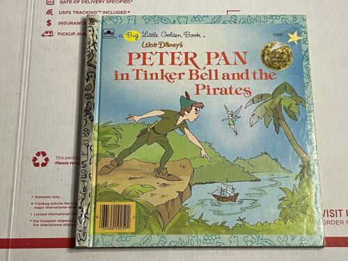 BIG LITTLE GOLDEN BOOK VINTAGE 1986 DISNEY PETER PAN & TINKER BELL & THE PIRATES