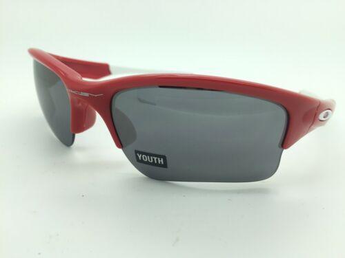NEW Oakley Quarter Jacket sunglasses 9200-08 Red Black Iridium AUTHENTIC Youth