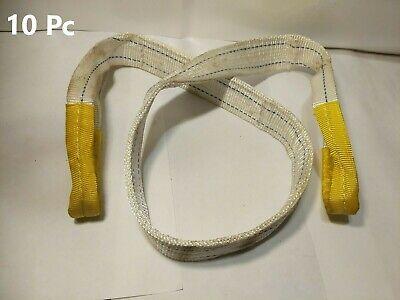 Nylon Lifting Sling  Eye To Eye Sling 2 X 5 2-ply 10pc Yellow Ends