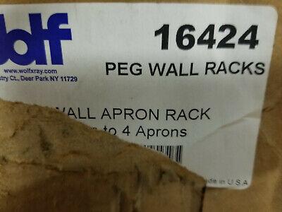 Wolf X-ray Peg Wall Racks Peg Wall Apron Rack - Holds Up To 4 Aprons