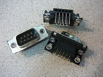 Amp 747250-3 D-sub Connector Plug Right Angle 9-position Pcb New Qty.3