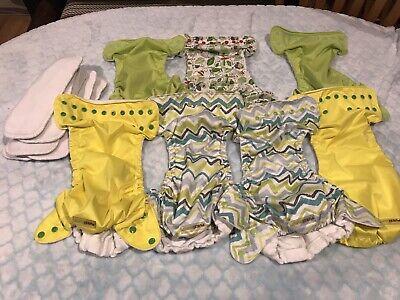 Fuzzibunz cloth diapers  one size pockets lot 7