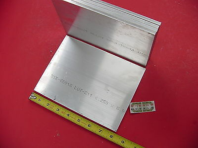 5 Pieces 14 X 6 Aluminum 6061 Flat Bar 8 Long T6511 .25 Plate Mill Stock
