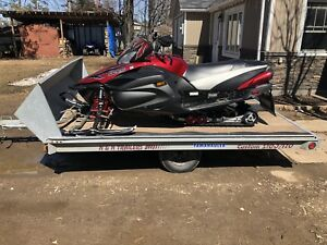 2003 N&N galvanized double snowmobile trailer