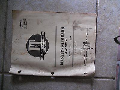 Vintage It Service Manual Massey Ferguson Models Mf 175-180