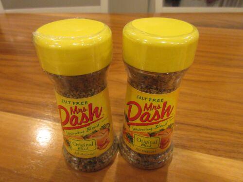 2 Bottles Salt-Free Mrs. Dash Seasoning Original Blend 2.5 oz