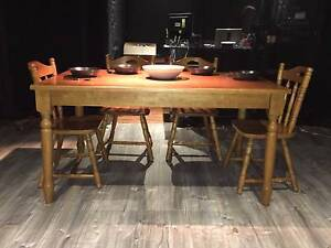 Solid Wood Dining Table and 6 Chairs - Country Style Potts Point Inner Sydney Preview