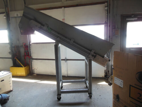 """STEIFF Inclined Small Parts Conveyor 10 FPM 6"""" Wide 6"""