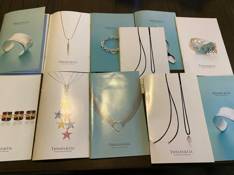 Vintage Tiffany & Co. Catalog Lot Of 11  Jewelry 2002 & 2003 -Summer/Spring/Fall