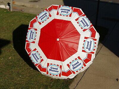 Rare Vintage Good Humor Ice Cream Umbrella For Push Carts Or Patio 6 Ft
