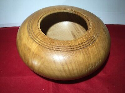 Vintage Wooden Cornwall Chestnut Bowl - Mid 1900s Pot Pourri - D19 x H8 cm -a661