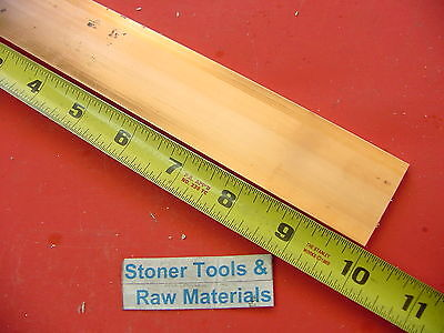 14x 1-12 C110 Copper Bar 10 Long Solid Flat Bar .25 Mill Bus Bar Stock H02