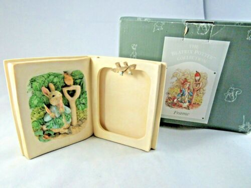 Peter Rabbit ceramic picture frame The Beatrix Potter Collection 1995 with box