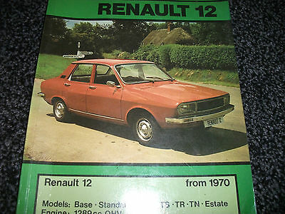 RENAULT 12 FROM 1970 1289CC OHV CAR REPAIR MANUAL AUTODATA