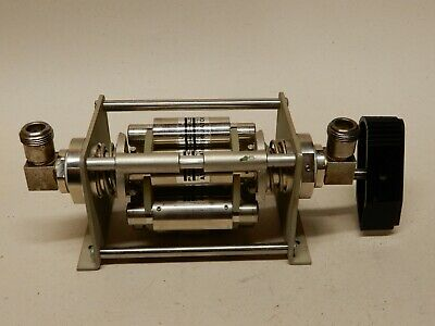 Fairchild Electro-metrics Step Attenuator Sa-601-25 0-5-10-15-20-25 Db Mechanica