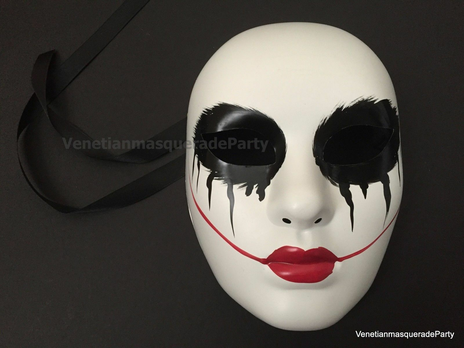 the purge red lips blood death joker mask anonymou.. in pakaian