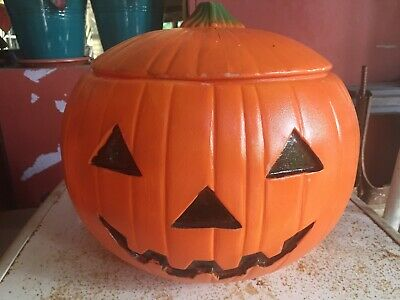 Vintage Pumpkin Blow Mold 1991 Union Products Halloween Pumpkin Jack O Lantern