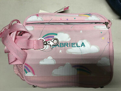 Pottery Barn Kids Mackenzie Cold Pack Lunch Bag Pink Clouds Mono Gabriela