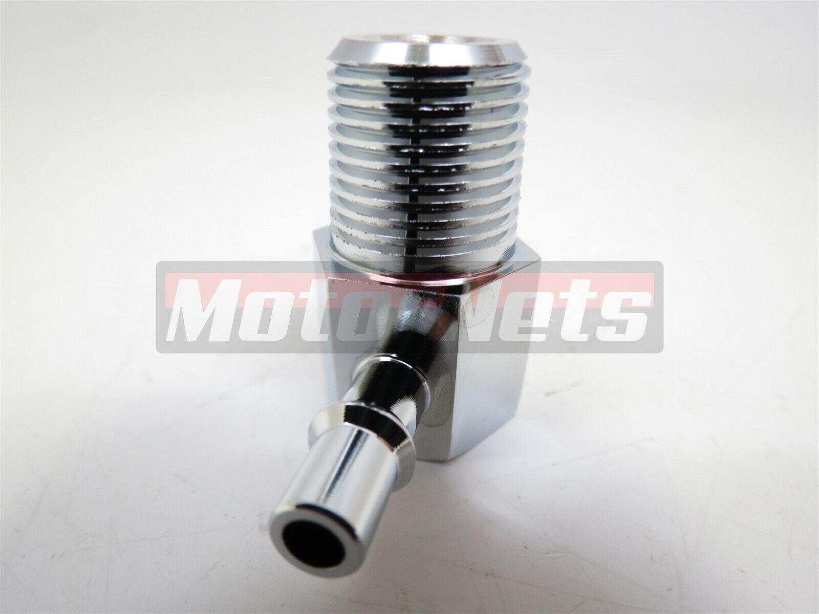 "Vacuum Line 3//8/"" NPT 3//8/"" Hose 90 Degree Zinc Steel Intake Manifold Fitting SBC"