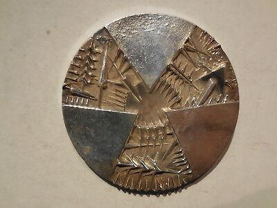 medaglia argento centenario banca d'Italia 1893 1993 incisore Arnaldo Pomodoro