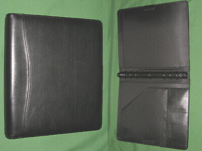 Folio 1.0 Black Leather Day Timer Planner Binder Monarch Franklin Covey 290
