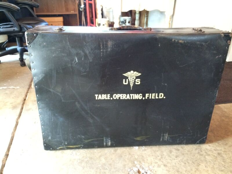 Military Portable Field Operating Table In Case Collectors Surplus Vintage Rare