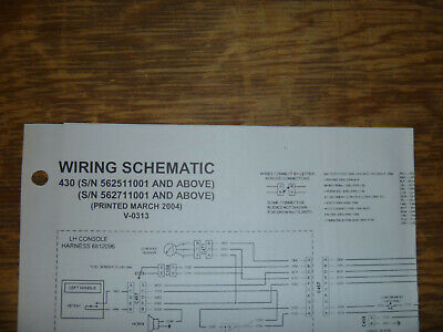 Bobcat 430 Excavator Electrical Wiring Diagram Schematic Manual Sn 562511001