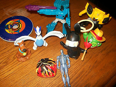 Lot of 7 Kids Meal Toys Angry Birds,Transformers,Pokemon,Scooby, Nerf + 2 extras