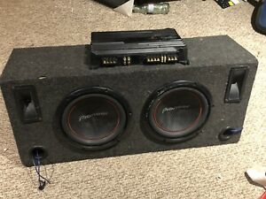 "2 10"" pioneer subwoofers with a Sony xplode 100w amp"
