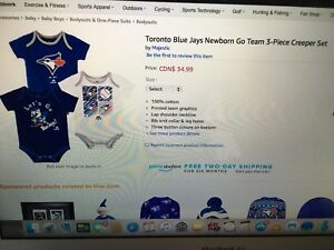 Blue jays onesies 0-3mths