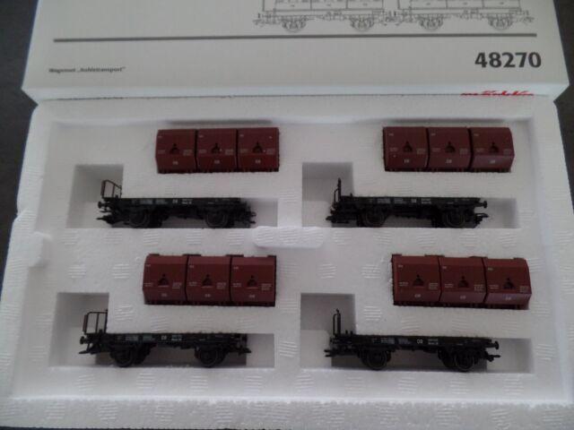 Märklin HO 48270 Wagenset Kohlekübeltransport neuwertig in OVP