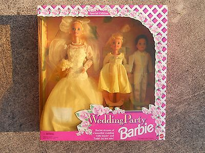 Wedding Party Barbie, Stacie & Todd Gift Set, NRFB