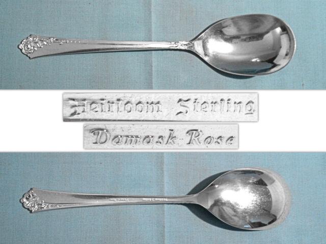 "ONEIDA HEIRLOOM STERLING 8 1/2"" CASSEROLE SPOON ~ DAMASK ROSE ~ NO MONO"