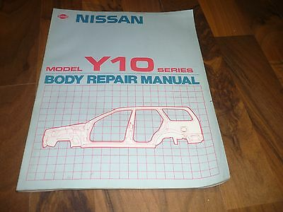 NISSAN SUNNY Y10 Traveller BODY REPAIR MANUAL Workshop Unfall WERKSTATT HANDBUCH