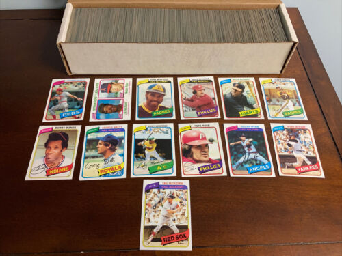 1980 Topps Baseball Complete Set Henderson RC NO RESERVE  - $127.50
