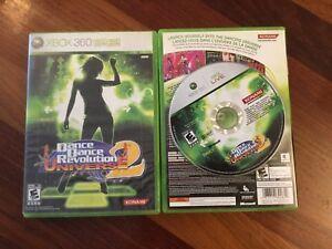 Tapis + jeux de dance dance revolution univers 2 sur Xbox 360