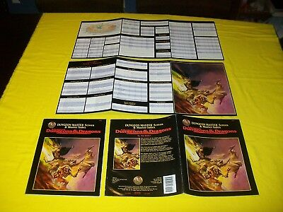 DUNGEON MASTER SCREEN & MASTER INDEX DUNGEONS & DRAGONS AD&D TSR 9504 - 2 (Master-index)
