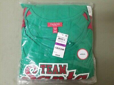 New Family PJs Womens Christmas Team Santa Pajama Sleepwear. Retail 59.50](Christmas Family Pjs)