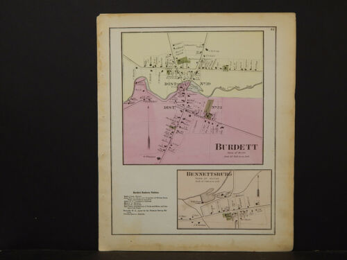 New York, Schuyler County Map, 1874, Burdett, Bennettsburg, Y1#77