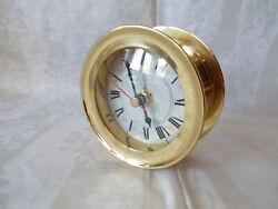 AM Makers to the Admiralty BRASS Nautical Ship WALL CLOCK - Works!