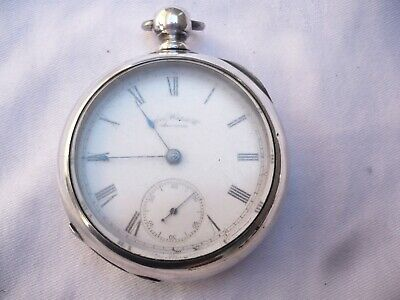 Am Waltham 18s pocket watch Coin Silver KWKS for parts