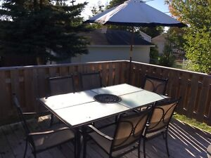 6 chair patio set with umbrella